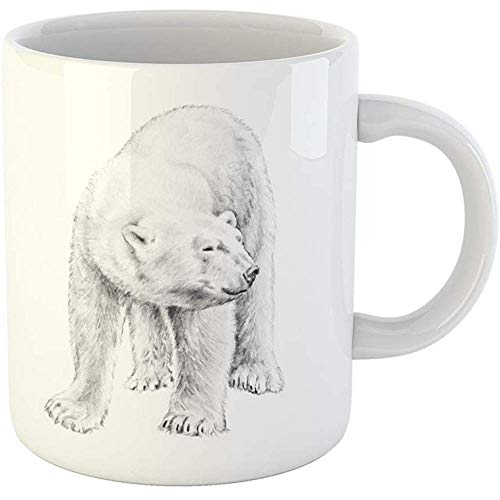 Personalized 11 Ounces Funny Coffee Mug Polar Bear of Fierce Arctic North Pole Animal Ceramic Coffee Mugs Tea Cup -