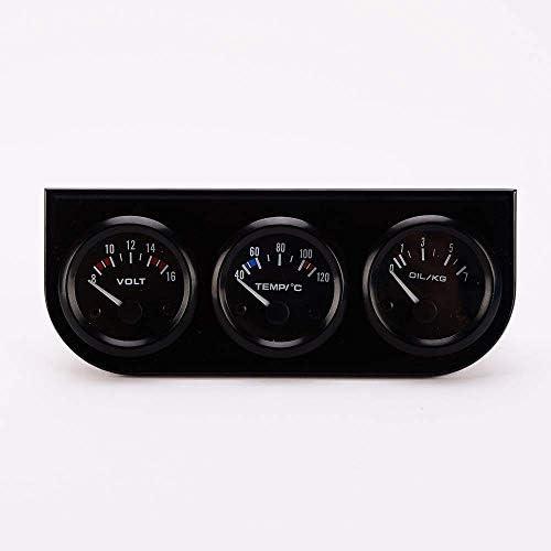 BXU-BG 耐久性のある1自動ゲージ車計電圧計+水温計+オイルプレスゲージで52ミリメートル3