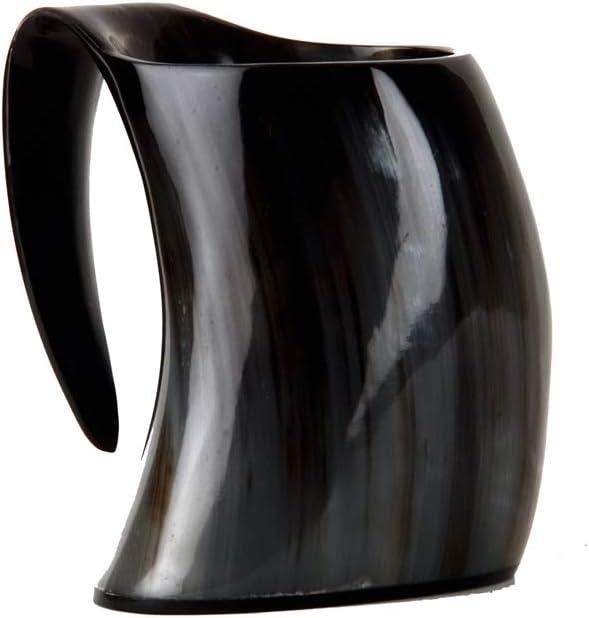 Buddha4all Original Viking Drinking Horn Cup Tankard Mug Horn Mug Tankard for Beer Wine ale (PLAIN 32 OZ)