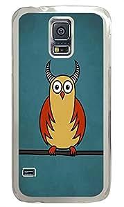 Samsung S5 case custom made Funny Owl Cartoons PC Transparent Custom Samsung Galaxy S5 Case Cover