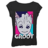 Girls Marvel Comics Graphic Tees - Spiderman, The Avengers, Guardians of The Galaxy (Black, X-Large)