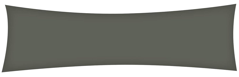 Heubergshop Flanell Seitenschlä ferkissen Bezug 40x145cm in Anthrazit Uni - 100% Baumwolle Stillkissenbezug Weich und Warm (FW-02)