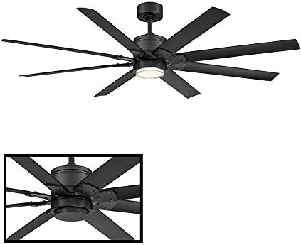 Renegade 52 in 8 Blade Matte Black Smart Ceiling Fan with 3000K Light Kit and Remote works with iOSAndroid app Alexa Google Assistant SmartThings Control4 more