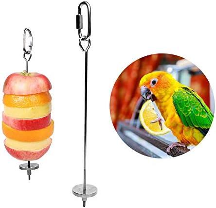 1Pc New Parrots Birds Futterhalter Unterst/ützung Kleintier Edelstahl Obst Speer Stick Fleischspie/ß Vogelh/äuschen Spielzeug C42