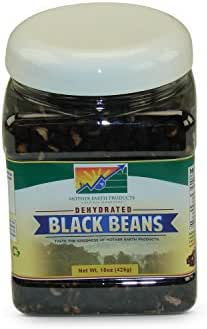 Mother Earth Products Dehydated Fast Cooking Black Beans, Quart Jar