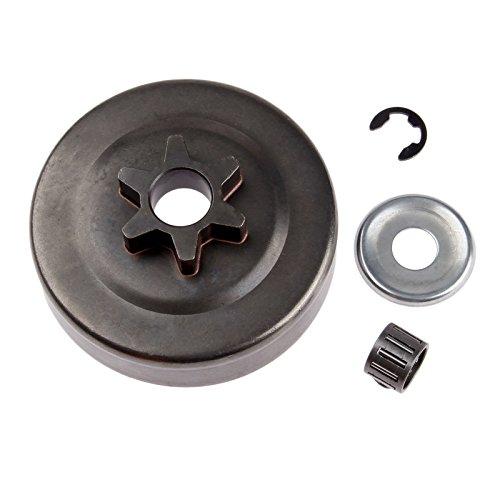 Hicello Clutch Drum Sprocket 3/8 6T Washer E-clip for STIHL MS170 MS180 017 018 025 - Oregon Sprocket