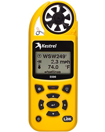 Kestrel 5500 Weather Meter with LiNK and Vane Mount, Yellow