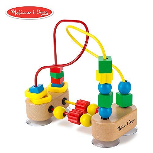 Melissa & Doug First Bead Maze (Developmental Toys, Wooden Educational Toy, Quality Craftsmanship & Sturdy - Classic Melissa Wood Board Doug And