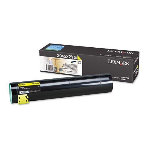 Lexmark - X945X2YG High-Yield Toner, 22000 Page-Yield, Yellow X945X2YG (DMi EA (X945x2yg High Yield Toner)