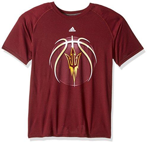 adidas NCAA Arizona State Sun Devils Mens Light Ball Ultimate S/Teelight Ball Ultimate S/Tee, Maroon, XX-Large