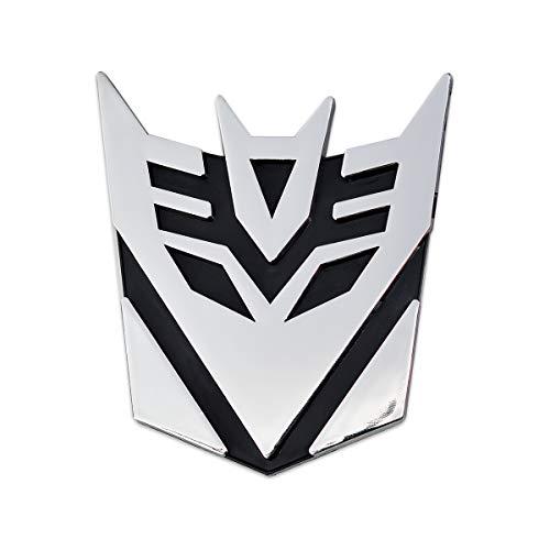 (Transformer Decepticon Chrome Finish Auto Emblem - 3