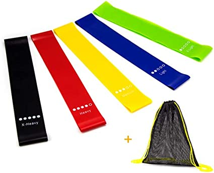 Premium Set of 4 Resistance Bands /& 2 Dual-Sided Gliding Discs for Core Work-Out