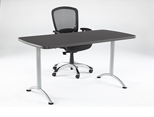 Iceberg ICE69217 ARC 5-foot Rectangular Conference Table, 30'' x 60'', Graphite/Silver Leg by Iceberg (Image #1)