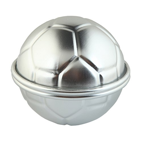 6Pcs 3D Mini Aluminum Hemisphere Pan Half Football Sphere Bath Bomb Cake Pan Baking Mold Pastry Mould (2.75)