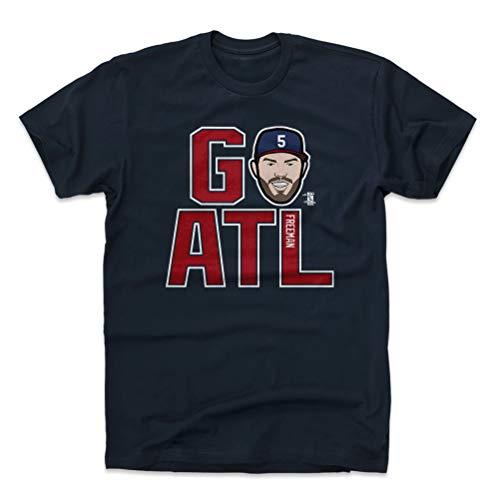 (500 LEVEL Freddie Freeman Cotton Shirt Large True Navy - Atlanta Baseball Men's Apparel - Freddie Freeman GO ATL R WHT)
