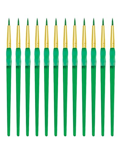 Royal Brush Big Kids Choice Round Paint Brush, Size 2, Pack of 12 from ROYAL BRUSH