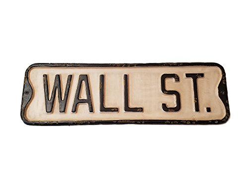 PD Home Vintage Street Sign (Wall ST.) (Street Signs Wall Decor)