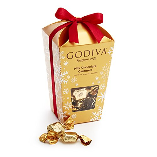 Godiva Chocolatier 30 Piece Caramels Bucket Gift Box, Milk Chocolate