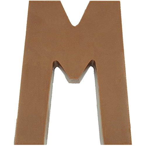 Philadelphia Candies Solid Milk Chocolate Alphabet Letter M, 1.75 Ounce Novelty Gift -
