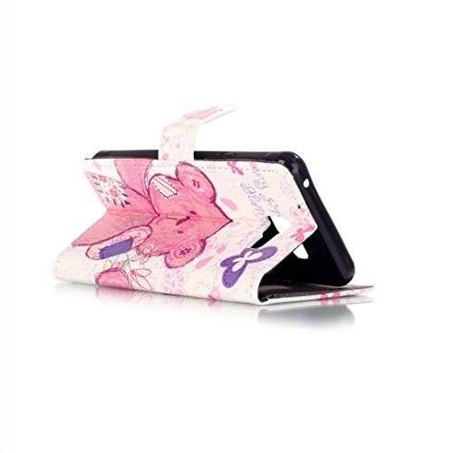 Funda para Samsung Galaxy A3 2016, Vandot Carcasa de Girasol Pavo Real de Impresión en Relieve Funda de PU Cuero Suave Carcasa Cartera con Cierre Magnético y Ranura Para Tarjetas Carcasa de Estilo Lib Pattern 07