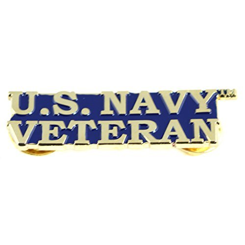 EE, Inc. US Navy Bold Faced Veteran Pin Military Collectibles for Men Women