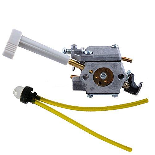 HIPA 308054079 Carburetor with Choke Lever + Primer Bulb for Ryobi RY08420 RY08420A Backpack (Carburetor Choke Adjustment)