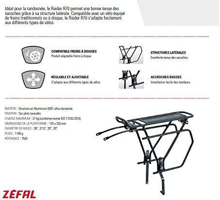 Zefal Raider R70/Mountain Bike /& Pannier Rack