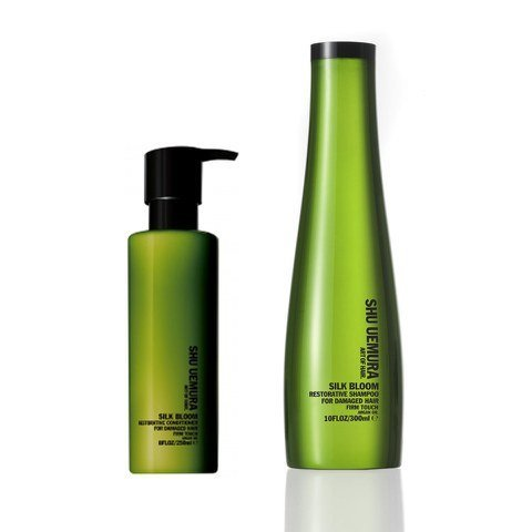 Silk Bloom by Shu Uemura Art of Hair Duo Set: Restorative Shampoo 300ml and Conditioner 250ml For Damaged Hair 300ml by Shu Uemura Art of Hair