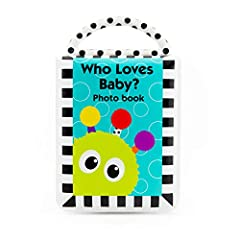 "The perfect first photo album for baby! Six 4"" x 6"" photo pockets provide an interaction opportunity between parent and baby, and is a great way to start a conversation with baby about friends and family. The book can even be used without pho..."