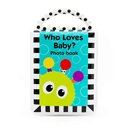 Sassy Developmental Look Book Photo Album  |  High Contrast Colors and Patterns  |  Drool Resistant Pages Hold Photos  |  Great Baby Shower ()