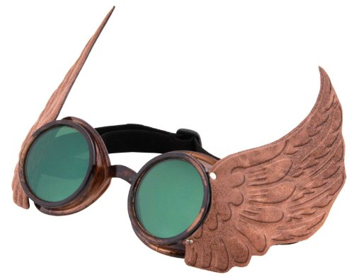 Elope Gold Winged Steampunk Goggles