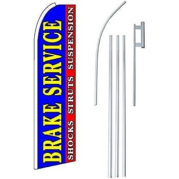 Flagpole /& Ground Spike Kit Brake Service Swooper Feather Flag