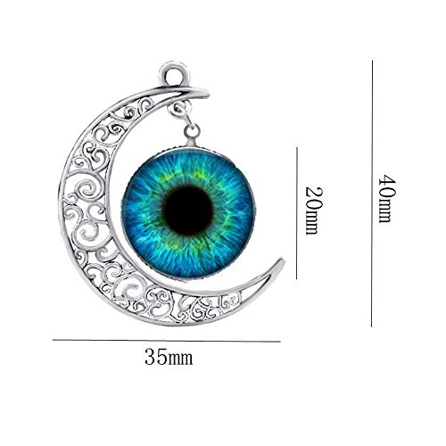 [Mr Rabbit Unisex Hollow Carving Moon Eye Time Pupil Gemstone Necklace] (Male Greek God Costumes)