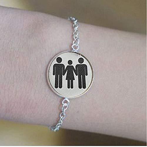 SWINGER Jewelry MFM Threesome Kinky Lifestyle Keychain Hotwife Hot Wife bracelets,Bible Quote Pendant -Christian Insect Art bracelets,bracelets,Unique bracelets Customized Gift,Everyday Gift bracelets