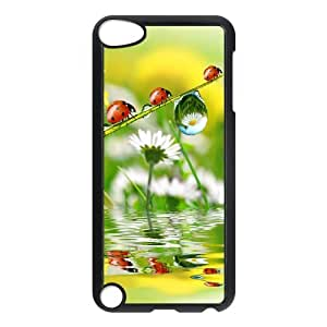 YCHZH Phone case Of Translucent Gradual Color Raindrops 1 Cover Case For Ipod Touch 5