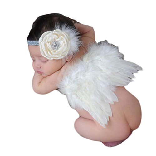 AutumnFall Baby Angel Feather Wings Wing Set Feather Butterfly Wings Photo Prop (D)