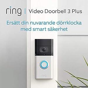 Ring Video Doorbell 3 Plus | 1080p HD-video, avancerad rörelsedetektion, 4 sekunders förhandsvisning och enkel installation | 30 dagars kostnadsfri provperiod på Ring Protect Plan ingår