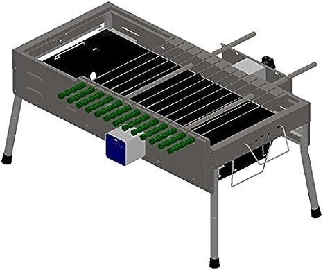 Cadena de cocción de automático eléctrico con tapa automático rotación barbacoa horno horno ancho arbitraria ajuste multifunción
