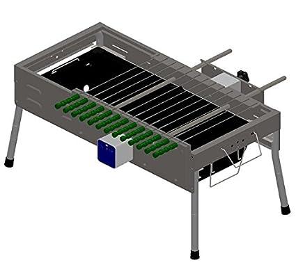 Cadena de cocción de automático eléctrico con tapa automático rotación barbacoa horno horno ancho arbitraria ajuste