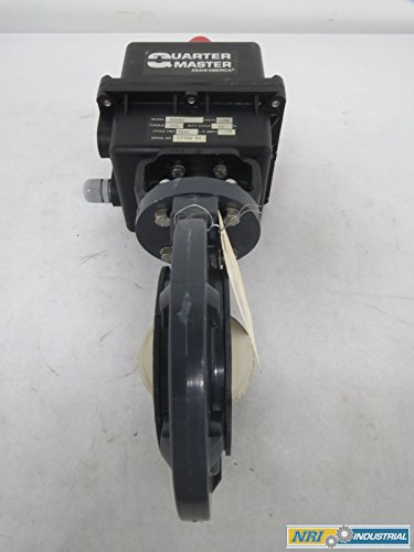 ASAHI 01L25256G ELECTRIC PVC FLANGED 3 IN BUTTERFLY VALVE B346414 (Electric Pvc Valve)