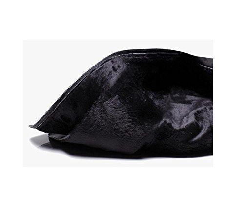 wdjjjnnnv Retro Chunky heels Keep Warm Velvet Short Boots Women's Small size Shoes 36 828jW0JOyH