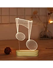 Deer 3D Illusion Night Light USB Wooden Base Bedside Lamp with Warm Colors for Kids Baby Holiday Gifts