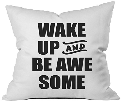 "Oh, Susannah Wake Up and Be Awesome V2 Black 18x18"" Throw Pillow Cover College Dorm Room Accessories Graduation Gift"