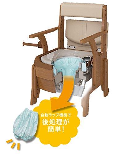 安寿 家具調トイレ セレクトR 自動ラップ (ノーマルタイプ ソフト便座) B07DH62DFQ ノーマルタイプ ソフト便座
