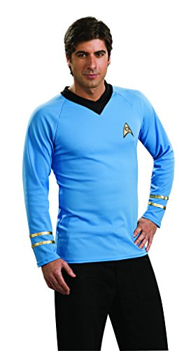 Star Trek Classic Deluxe Blue Shirt, Adult Large Costume