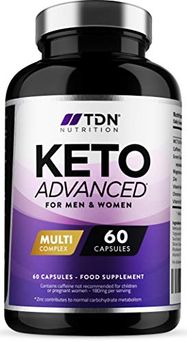 Keto Diet Pills for Men & Women – 1 Month Supply – MCT Oil & Green Tea Plus Vitamins and Minerals – UK Made – Vegan…