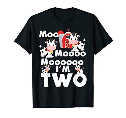 Little Cow Moo (Moo I'm Two 2nd Birthday Cute Funny Cow Sounds Toddler Tee)