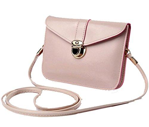 Small Purse (edfamily Women Girls Mini Handbags Leather Crossbody Single Shoulder Bag Cellphone Pouch Purse Wallet(Beige))