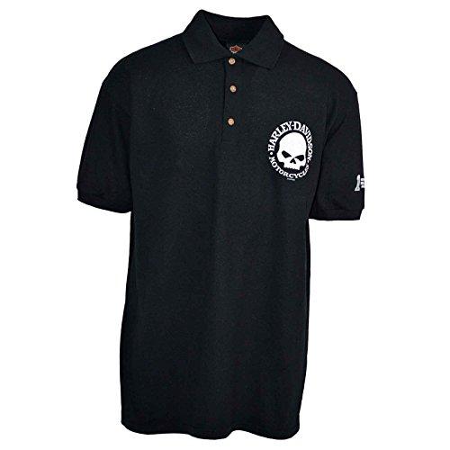 D&g Mens Clothing (Harley-Davidson Men's Polo Shirt - Willie G   Overseas Tour LG)
