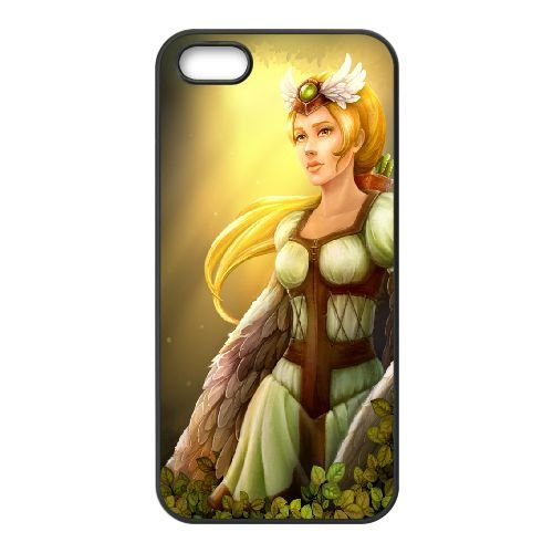 Summer Girl Fantasy Northern Tale Tales North Vikings Blonde 65348 coque iPhone 5 5s cellulaire cas coque de téléphone cas téléphone cellulaire noir couvercle EEECBCAAN05453